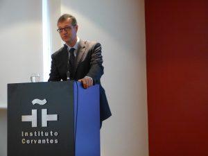 """José Miguel Noguera Celdrán (Universidad de Murcia), der für seine steten Bemühungen um das archäologische Erbe Cartagenas 2012 den """"Premio Nacional de Restauración y Conservación de Bienes Culturales"""" erhielt."""