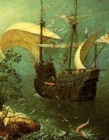 Bruegel,the fall of icarus. detail 2