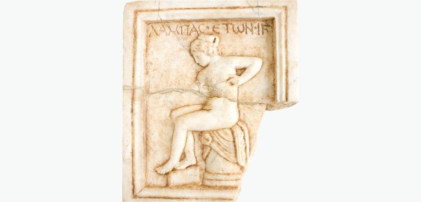 Die Prostituierte Lampas, Relief aus dem 2. Jh. n. Chr.