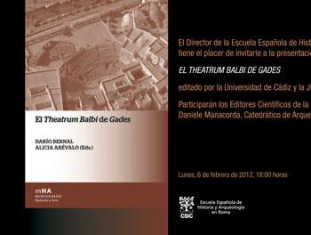 """""""Theatrum Balbi"""" in Cádiz"""